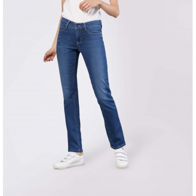 MAC Dream Jeans Straight Mid Blue Authentic Wash