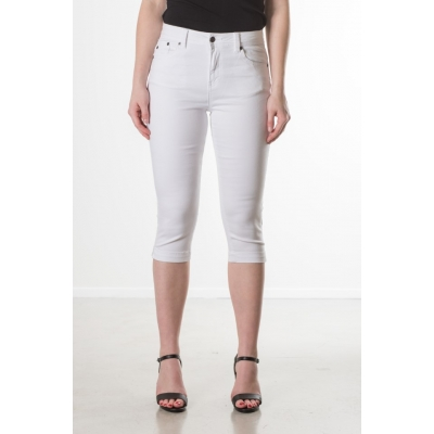 New Star Jeans Capri Orlando White