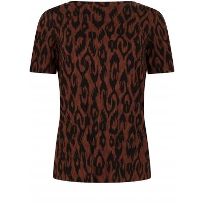 Tramontana T-Shirt Ikat Brown