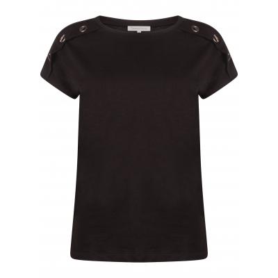 Tramontana T-Shirt Eyelets Black