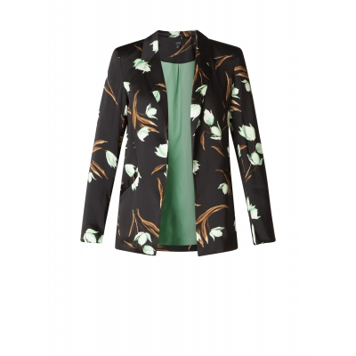 Yest Blazer Flower Black