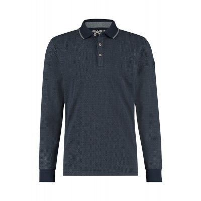 Blue Fields Jersey Polo Longsleeve Blauw