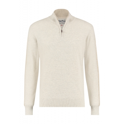 Blue Fields Pullover Zip Beige