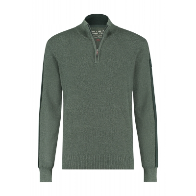 Blue Fields Pullover Zip Groen