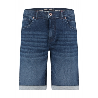 Blue Fields Shorts Denim Blue Black
