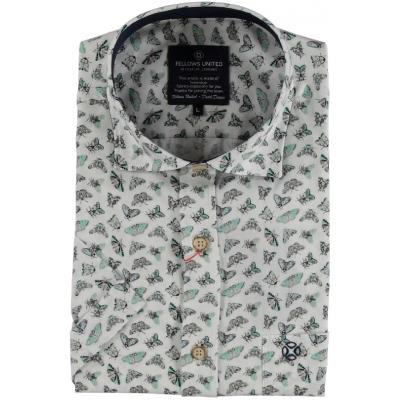 Fellows United Overhemd Button Flies Print