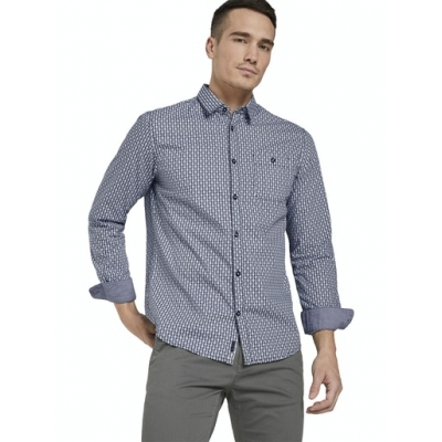 Tom Tailor Shirt Tonal Blue