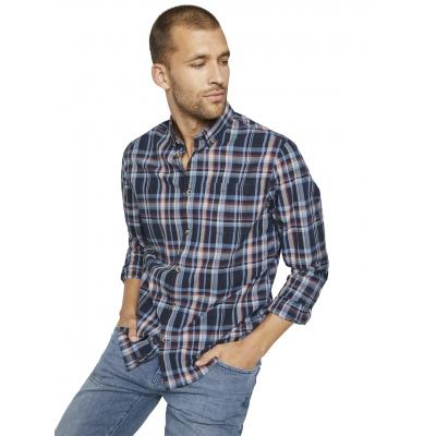 Tom Tailor Checked Shirt Blue