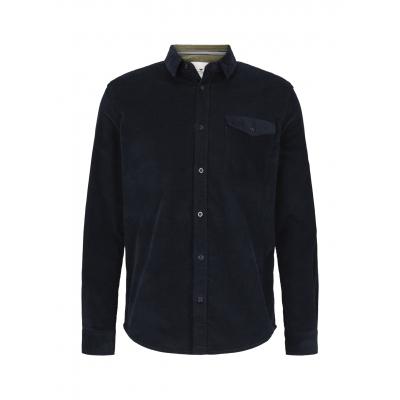 Tom Tailor Corduroy Shirt Dark Blue