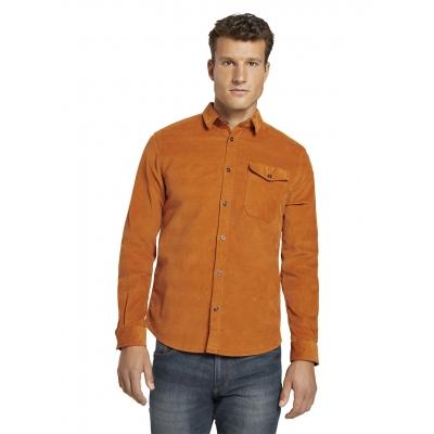 Tom Tailor Corduroy Shirt Pumpkin Orange