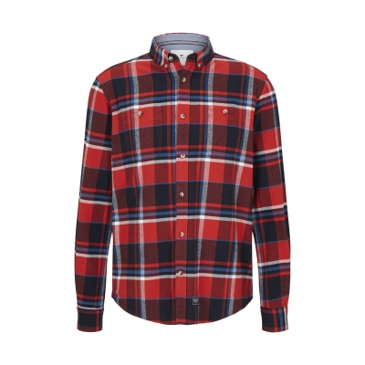 Tom Tailor Checked Shirt Red Blue