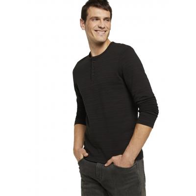 Tom Tailor Henley Longsleeve Shirt Black