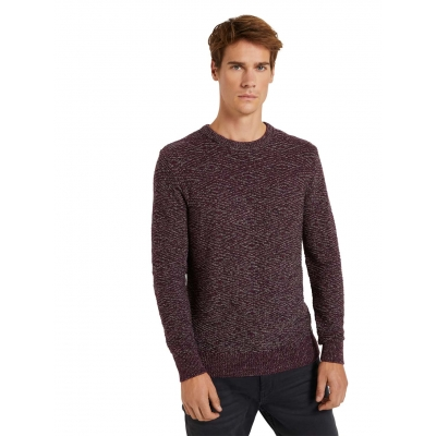 Tom Tailor Pullover Purple Black