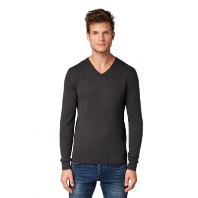 Tom Tailor Sweater Black Grey
