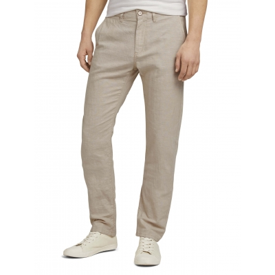 Tom Tailor Chino Travis Linnen Beige Chambray